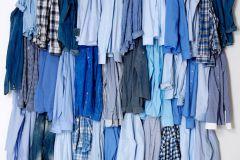 P141201-5 cikkszámú tapéta.3d hatású,fotórealisztikus,textilmintás,fehér,kék,gyengén mosható,vlies poszter, fotótapéta