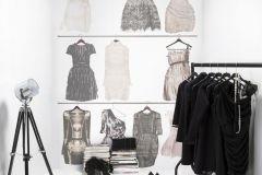 P141301-4 cikkszámú tapéta.Fotórealisztikus,rajzolt,retro,textilmintás,bézs-drapp,bronz,fehér,fekete,szürke,gyengén mosható,vlies poszter, fotótapéta