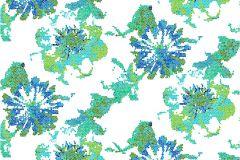 P141602-6 cikkszámú tapéta.Virágmintás,retro,absztrakt,fehér,kék,türkiz,zöld,gyengén mosható,vlies poszter, fotótapéta