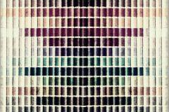 P142002-8 cikkszámú tapéta.Csíkos,retro,fotórealisztikus,textilmintás,zöld,bronz,ezüst,arany,gyengén mosható,vlies poszter, fotótapéta