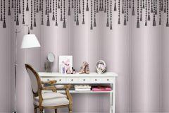 P142201-8 cikkszámú tapéta.Absztrakt,csipke,rajzolt,retro,textilmintás,fehér,fekete,lila,pink-rózsaszín,gyengén mosható,vlies poszter, fotótapéta