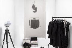 P142502-3 cikkszámú tapéta.Konyha-fürdőszobai,különleges motívumos,rajzolt,retro,textilmintás,bézs-drapp,fehér,fekete,gyengén mosható,vlies poszter, fotótapéta
