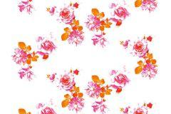 P142701-4 cikkszámú tapéta.Virágmintás,természeti mintás,fehér,pink-rózsaszín,narancs-terrakotta,gyengén mosható,vlies poszter, fotótapéta