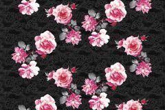 P142702-4 cikkszámú tapéta.Virágmintás,pink-rózsaszín,barna,gyengén mosható,vlies poszter, fotótapéta