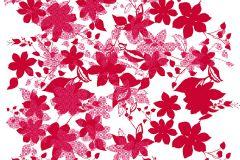 P142801-9 cikkszámú tapéta.Virágmintás,retro,absztrakt,fehér,piros-bordó,pink-rózsaszín,gyengén mosható,vlies poszter, fotótapéta