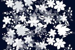 P142802-9 cikkszámú tapéta.Virágmintás,absztrakt,fehér,fekete,gyengén mosható,vlies poszter, fotótapéta