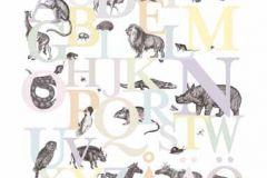 P120403-6 cikkszámú tapéta.állatok,feliratos-számos,gyerek,konyha-fürdőszobai,rajzolt,retro,természeti mintás,fehér,fekete,pink-rózsaszín,sárga,szürke,zöld,gyengén mosható,vlies poszter, fotótapéta