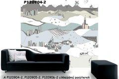 P120904-2 cikkszámú tapéta.Gyerek,különleges motívumos,rajzolt,fehér,fekete,kék,gyengén mosható,vlies poszter, fotótapéta