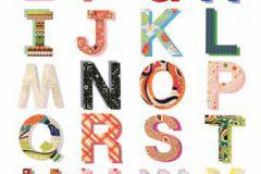 P121804-4 cikkszámú tapéta.Feliratos-számos,gyerek,különleges motívumos,rajzolt,retro,fehér,kék,piros-bordó,sárga,zöld,gyengén mosható,vlies poszter, fotótapéta