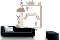 P121903-5 cikkszámú tapéta.Gyerek,konyha-fürdőszobai,különleges motívumos,rajzolt,barna,bézs-drapp,fehér,gyengén mosható,vlies poszter, fotótapéta