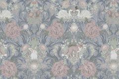 P280101-4 cikkszámú tapéta.állatok,gyerek,különleges motívumos,rajzolt,tájkép,természeti mintás,virágmintás,kék,narancs-terrakotta,szürke,vajszín,lemosható,vlies poszter, fotótapéta