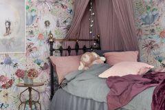 P280103-4 cikkszámú tapéta.állatok,gyerek,különleges motívumos,természeti mintás,virágmintás,barna,fehér,kék,pink-rózsaszín,vajszín,lemosható,vlies poszter, fotótapéta