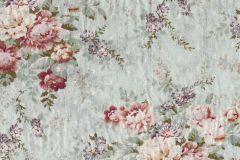 P280105-8 cikkszámú tapéta.Rajzolt,természeti mintás,virágmintás,kék,piros-bordó,szürke,zöld,lemosható,vlies poszter, fotótapéta