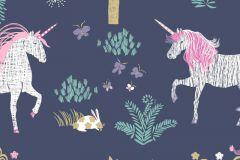 P280106-4 cikkszámú tapéta.állatok,gyerek,különleges motívumos,rajzolt,természeti mintás,fehér,kék,pink-rózsaszín,sárga,szürke,lemosható,vlies poszter, fotótapéta