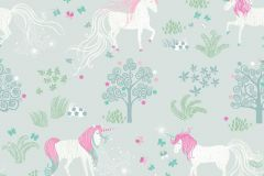 P280107-4 cikkszámú tapéta.állatok,gyerek,különleges motívumos,rajzolt,természeti mintás,fehér,pink-rózsaszín,zöld,lemosható,vlies poszter, fotótapéta