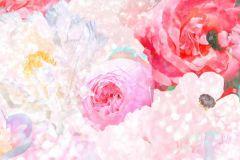 P280111-8 cikkszámú tapéta.Természeti mintás,virágmintás,bézs-drapp,lila,pink-rózsaszín,piros-bordó,lemosható,vlies poszter, fotótapéta