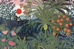 P280130-8 cikkszámú tapéta.állatok,gyerek,rajzolt,tájkép,természeti mintás,barna,bézs-drapp,kék,narancs-terrakotta,pink-rózsaszín,zöld,lemosható,vlies poszter, fotótapéta