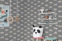 P280132-4 cikkszámú tapéta.állatok,gyerek,természeti mintás,fehér,szürke,lemosható,vlies poszter, fotótapéta