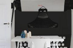 P180201-6 cikkszámú tapéta.Feliratos-számos,fehér,fekete,gyengén mosható,vlies poszter, fotótapéta