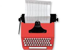 P180202-6 cikkszámú tapéta.Feliratos-számos,fotórealisztikus,különleges motívumos,retro,fehér,piros-bordó,gyengén mosható,vlies poszter, fotótapéta