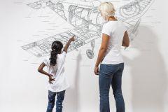 P180401-8 cikkszámú tapéta.Feliratos-számos,geometriai mintás,gyerek,különleges motívumos,rajzolt,retro,fehér,fekete,gyengén mosható,vlies poszter, fotótapéta