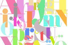 P180502-6 cikkszámú tapéta.Feliratos-számos,különleges motívumos,rajzolt,retro,bézs-drapp,fehér,kék,pink-rózsaszín,türkiz,zöld,gyengén mosható,vlies poszter, fotótapéta