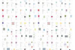 P180701-4 cikkszámú tapéta.Feliratos-számos,gyerek,rajzolt,retro,fehér,kék,piros-bordó,sárga,gyengén mosható,vlies poszter, fotótapéta