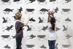 P182601-6 cikkszámú tapéta.Különleges motívumos,rajzolt,retro,fehér,fekete,gyengén mosható,vlies poszter, fotótapéta