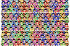 P182701-4 cikkszámú tapéta.Emberek-sztárok,fekete,kék,piros-bordó,sárga,zöld,gyengén mosható,vlies poszter, fotótapéta