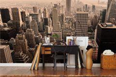 E010801-9 cikkszámú tapéta.3d hatású,fotórealisztikus,különleges motívumos,retro,bézs-drapp,fehér,fekete,narancs-terrakotta,pink-rózsaszín,gyengén mosható,vlies poszter, fotótapéta