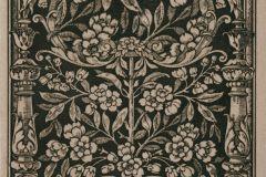 P160501-4 cikkszámú tapéta.Fa hatású-fa mintás,különleges motívumos,rajzolt,természeti mintás,textil hatású,bézs-drapp,fekete,gyengén mosható,vlies poszter, fotótapéta