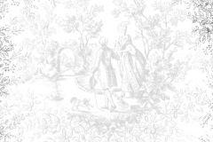 P161001-6 cikkszámú tapéta.Barokk-klasszikus,emberek-sztárok,rajzolt,természeti mintás,fehér,fekete,gyengén mosható,vlies poszter, fotótapéta