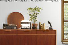 P162001-4 cikkszámú tapéta.Konyha-fürdőszobai,különleges motívumos,rajzolt,retro,fehér,fekete,gyengén mosható,vlies poszter, fotótapéta