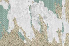 P162801-7 cikkszámú tapéta.Absztrakt,fehér,barna,zöld,gyengén mosható,vlies poszter, fotótapéta