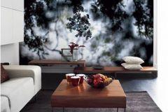 DM316-2 cikkszámú tapéta.3d hatású,fa hatású-fa mintás,természeti mintás,fehér,szürke,zöld,gyengén mosható,vlies poszter, fotótapéta