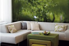 DM322-2 cikkszámú tapéta.3d hatású,fa hatású-fa mintás,fotórealisztikus,különleges motívumos,barna,zöld,gyengén mosható,vlies poszter, fotótapéta