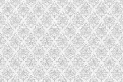 P230302-9 cikkszámú tapéta.Különleges motívumos,retro,textil hatású,fehér,szürke,gyengén mosható,vlies poszter, fotótapéta