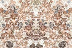P231001-8 cikkszámú tapéta.Geometriai mintás,különleges motívumos,rajzolt,retro,barna,bézs-drapp,fehér,vajszín,gyengén mosható,vlies poszter, fotótapéta