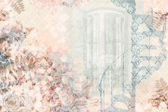 P232201-6 cikkszámú tapéta.Különleges motívumos,természeti mintás,virágmintás,kék,pink-rózsaszín,zöld,gyengén mosható,vlies poszter, fotótapéta