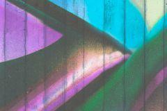 P200101-0 cikkszámú tapéta.Absztrakt,különleges motívumos,retro,kék,lila,sárga,szürke,türkiz,zöld,gyengén mosható,vlies poszter, fotótapéta
