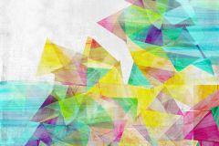 P200201-6 cikkszámú tapéta.Absztrakt,gyerek,különleges motívumos,rajzolt,retro,fehér,kék,lila,pink-rózsaszín,piros-bordó,sárga,türkiz,zöld,gyengén mosható,vlies poszter, fotótapéta