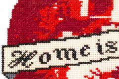P200401-6 cikkszámú tapéta.Különleges motívumos,rajzolt,retro,fehér,fekete,piros-bordó,gyengén mosható,vlies poszter, fotótapéta