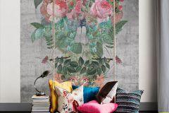 P200501-4 cikkszámú tapéta.Barokk-klasszikus,rajzolt,retro,természeti mintás,virágmintás,bézs-drapp,narancs-terrakotta,pink-rózsaszín,sárga,szürke,türkiz,zöld,gyengén mosható,vlies poszter, fotótapéta