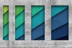 P200801-8 cikkszámú tapéta.Absztrakt,geometriai mintás,gyerek,kockás,különleges motívumos,retro,kék,szürke,türkiz,zöld,gyengén mosható,vlies poszter, fotótapéta