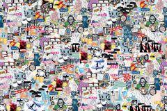 P202701-5 cikkszámú tapéta.Absztrakt,emberek-sztárok,gyerek,különleges motívumos,rajzolt,retro,barna,bézs-drapp,fehér,fekete,kék,pink-rózsaszín,piros-bordó,sárga,szürke,türkiz,gyengén mosható,vlies poszter, fotótapéta