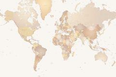 P110501-0 cikkszámú tapéta.Rajzolt,barna,bézs-drapp,fehér,sárga,szürke,lemosható,vlies poszter, fotótapéta