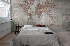 P270101-10 cikkszámú tapéta.Kőhatású-kőmintás,különleges felületű,barna,piros-bordó,szürke,lemosható,vlies poszter, fotótapéta