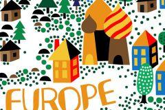 P270505-8 cikkszámú tapéta.Rajzolt,barna,fehér,kék,narancs-terrakotta,pink-rózsaszín,piros-bordó,sárga,szürke,türkiz,zöld,lemosható,vlies poszter, fotótapéta
