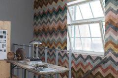P270801-2 cikkszámú tapéta.Különleges felületű,különleges motívumos,retro,barna,bézs-drapp,kék,narancs-terrakotta,piros-bordó,sárga,zöld,lemosható,vlies poszter, fotótapéta