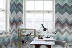 P270802-2 cikkszámú tapéta.Különleges felületű,különleges motívumos,retro,barna,kék,zöld,lemosható,vlies poszter, fotótapéta